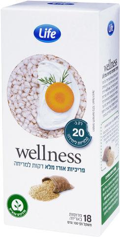 Wellness פריכיות אורז מלא דקות למריחה