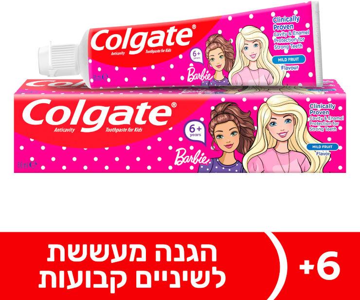 משחת שיניים ילדים ברבי לגילאי 6+ לשיניים חזקות בטעם פירות