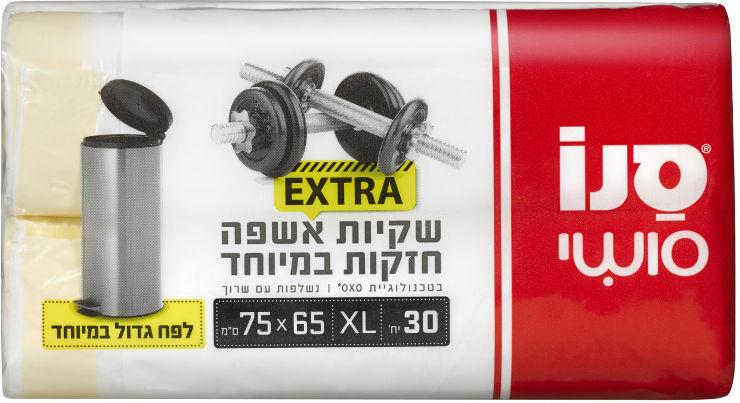 סושי EXTRA שקיות אשפה חזקות במיוחד 65*75 ס