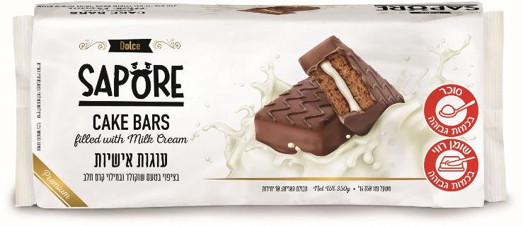 עוגות אישיות בציפוי שוקולד חלב ובמילוי קרם חלב