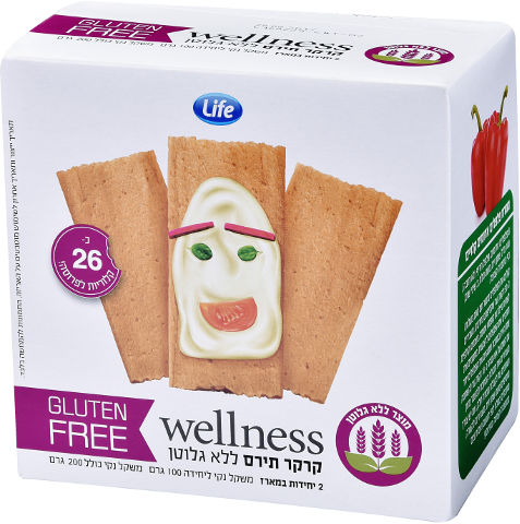 Wellness קרקר פתית תירס ללא גלוטן