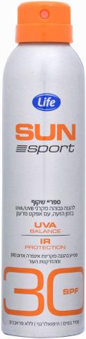 SUN ספורט ספריי שקוף 30SPF