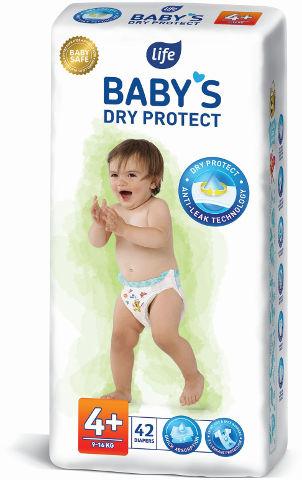 BABYS חיתולים 4+ מקסי פלוס DRY PROTECT