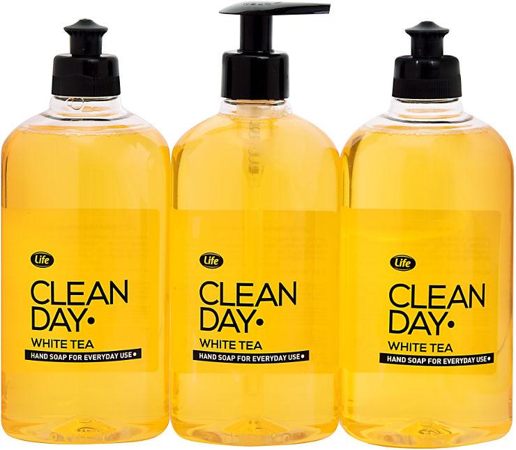 סבון נוזלי לידיים קלין דיי וויט טי-צהוב