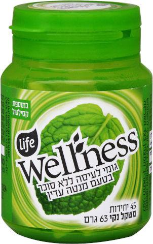 Wellness מסטיק ללא סוכר בתוספת סידן בטעם מנטה עדין