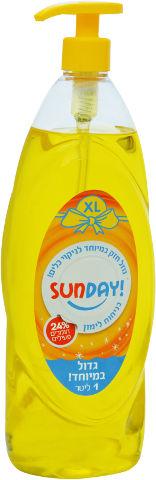נוזל לניקוי כלים 24% חומרים פעילים בניחוח לימון