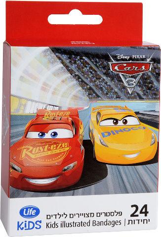 KIDS פלסטרים מצויירים לילדים CARS