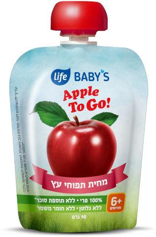 BABYS מחית תפוח עץ TO GO שלב 3