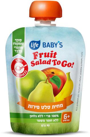 מחית לתינוק סלט פירות חודשים +6 TO GO
