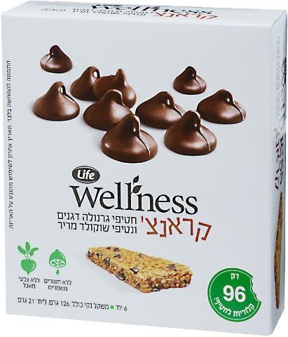 Wellness חטיפי גרנולה קראנצ' דגנים ושוקולד
