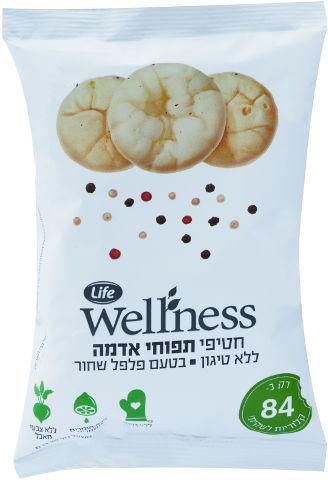 Wellness חטיף תפוח אדמה ללא טיגון בטעם פלפל שחור