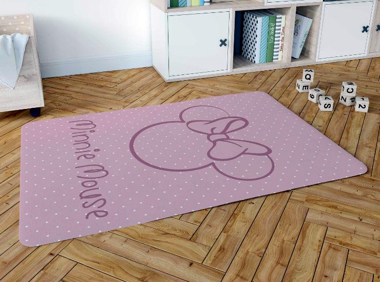 שטיח פלנל לחדר ילדים דגם מיני מאוס