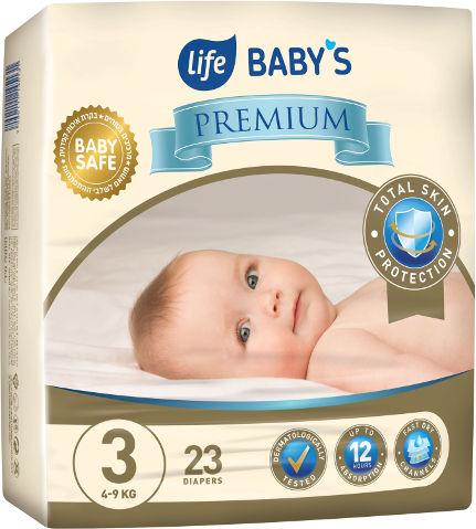 BABYS PREMIUM חיתולים 3 מידי 4-9 ק