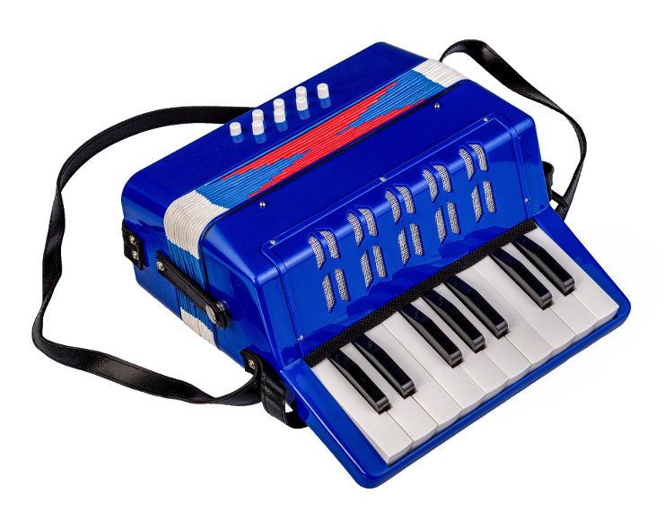 אקורדיון קלידים - MUSIC KIDS צבע כחול