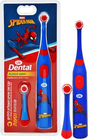 DENTAL מברשת שיניים חשמלית לילדים נטענת - ספיידרמן