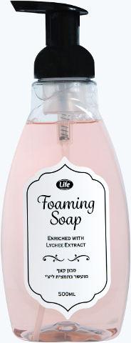 סבון קצף מועשר בתמצית ליצ'י