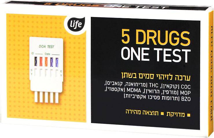 לייף ערכה לזיהוי סמים בשתן
