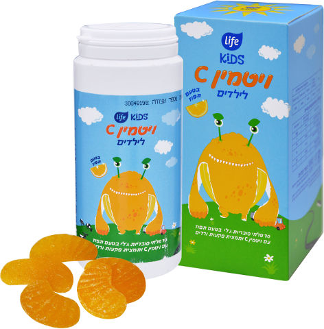 ויטמין C לילדים בטעם תפוז