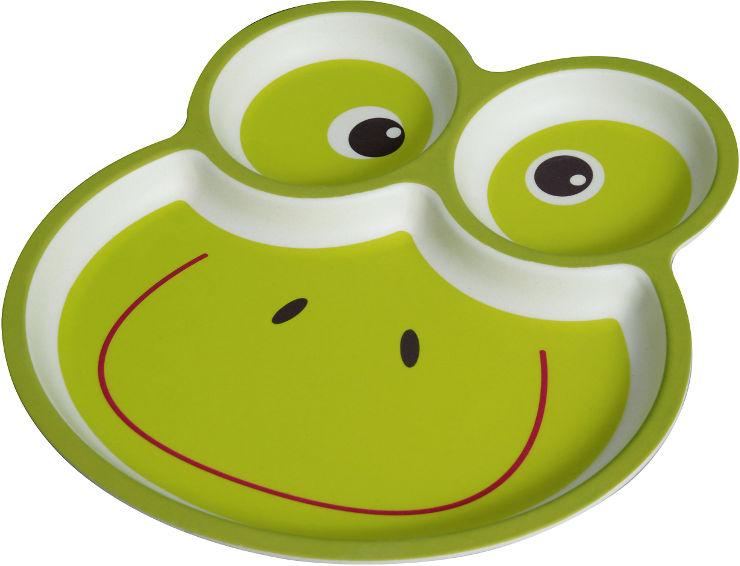 לייף קידס צלחת במבוק מחולקת צפרדע