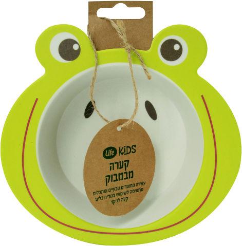 לייף בייביז קערה לתינוק במבוק צפרדע