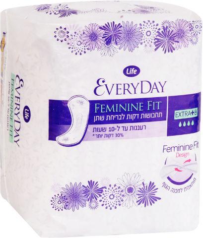 FEMININE FIT תחבושות דקות לבריחת שתן - אקסטרה פלוס
