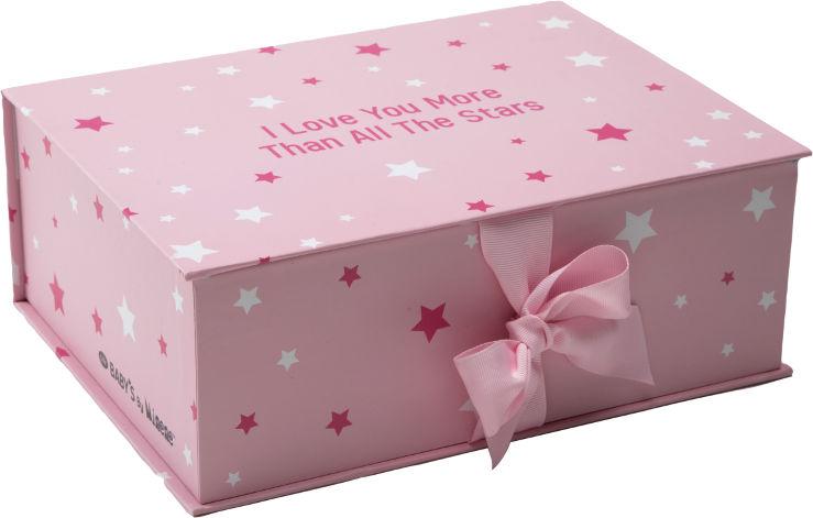 BABYS By Minene מארז מתנה קופסא ורוד