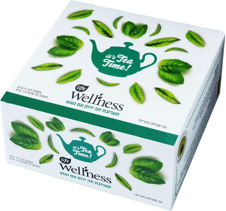 Wellness תערובת תה ירוק עם נענע