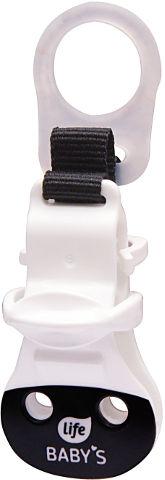לייף בייביז מחזיק מוצץ ללא ידית שחור לבן