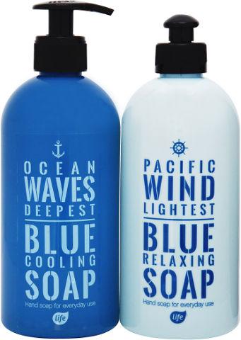 אל סבון נוזלי כחולים