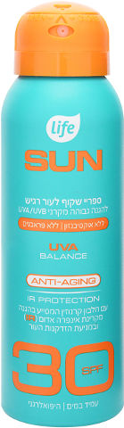 SUN ספריי שקוף לעור רגיש SPF30 ללא אוקסביניזון