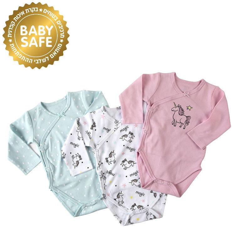 BABYS בגד גוף חד קרן 0-3 חודשים