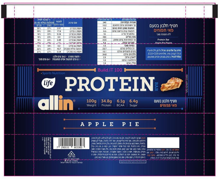 ALL IN חטיף חלבון - פאי תפוחים