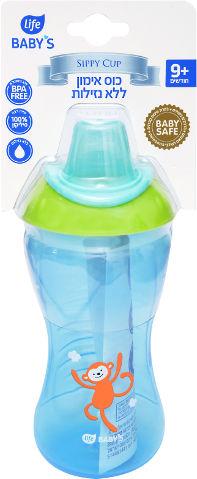 """בקבוק אימון לתינוק ללא נזילות 9+ חודשים 340 מ""""ל"""