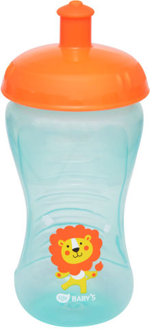 """לייף בייביז בקבוק אימון לתינוק עם פיית ספורט 15+ חודשים 340 מ""""ל"""
