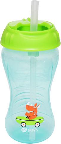 """בקבוק אימון לתינוק עם קש סילקון 12+ חודשים 340 מ""""ל"""