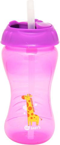 """לייף בייביז בקבוק אימון לתינוק עם קש סילקון 12+ חודשים 340 מ""""ל"""