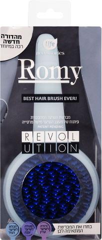 ROMY מברשת לשיער רגיל - תכלת