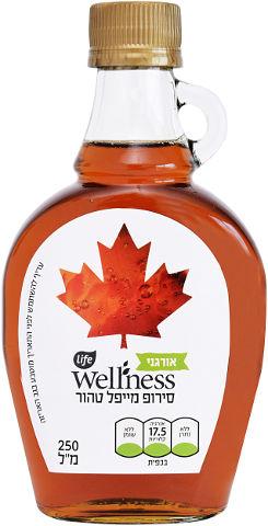 Wellness סירופ מייפל טהור אורגני