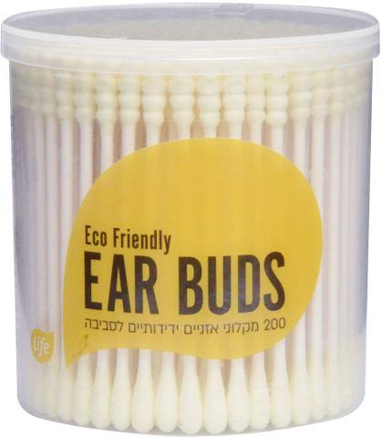 מקלוני אוזניים צבעוניים ידידותיים לסביבה צהוב