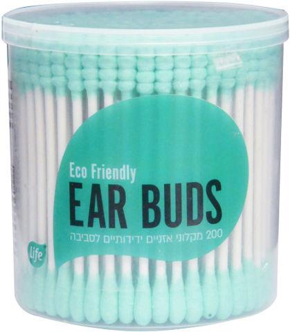 מקלוני אוזניים צבעוניים ידידותיים לסביבה תכלת