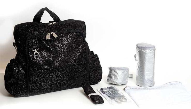 תיק החתלה ideal שחור מנצנץ גיטה