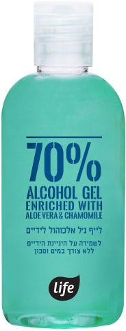 ג'ל אלכוהול לידיים 70% אלוורה וקמומיל