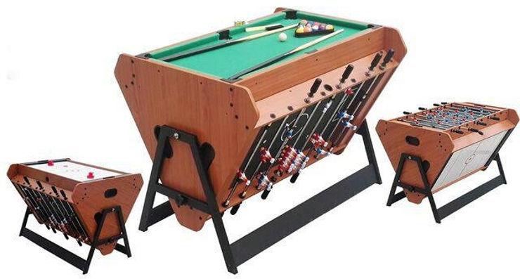 שולחן משחק משולב 3 משחקים MULTI GAME