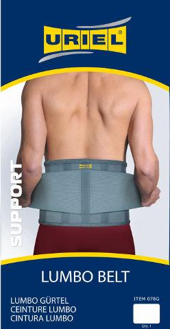 חגורת גב אפורה מידה M דגם 078G