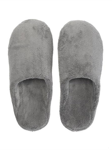 נעלי בית מפנקות לחורף - אפור