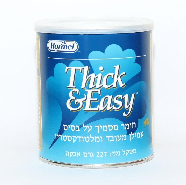THICK & EASY חומר מסמיך על בסיס עמילן מעובד ומלטודקסטרין