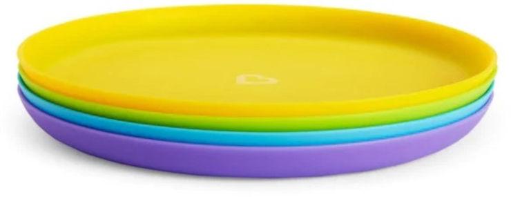 סט צלחות אוכל צבעוניות מנצ'קין