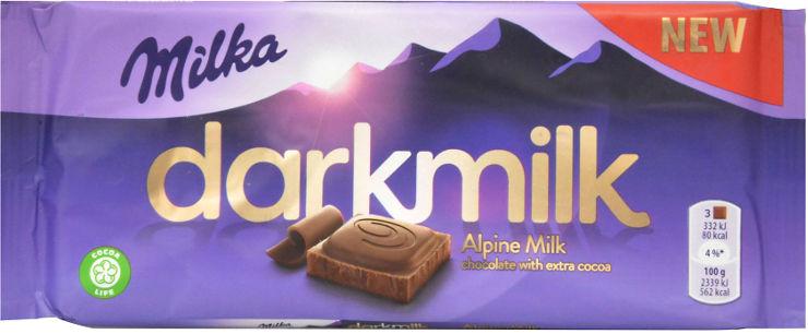 דארק שוקולד חלב עם תכולת קקאו גבוהה