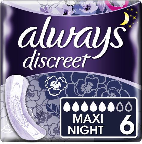 דיסקרט תחבושות לבריחת שתן לילה