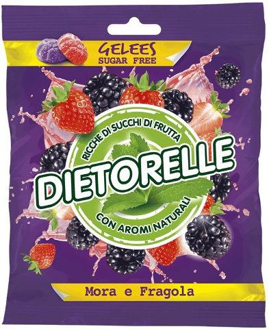 סטיביה סוכריות ג'ליס ללא סוכר תות ופטל שחור